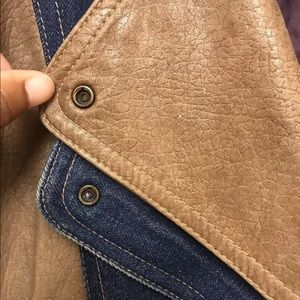 dominic bellissimo Jackets & Coats - VTG Dominic Bellissimo DENIM JEAN JACKET LEATHER